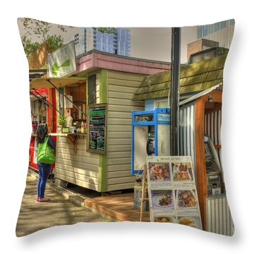 Portland Food Carts Throw Pillow
