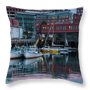 Portland Harbor Throw Pillow
