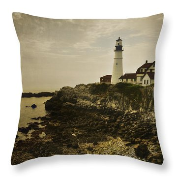 Portland Head Light II Throw Pillow