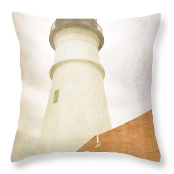 Portland Head Lighthouse Maine Throw Pillow