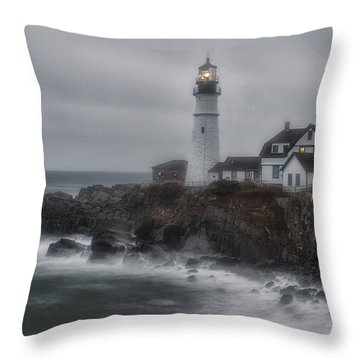 Portland Head Nor'easter Throw Pillow
