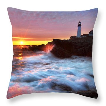 Portland Head Sunrise Throw Pillow