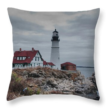 Portland Headlight 14456 Throw Pillow