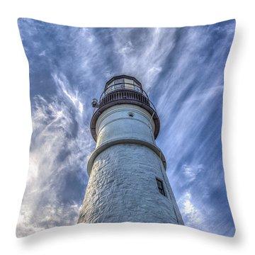 Portland Headlight Throw Pillow by Jane Luxton