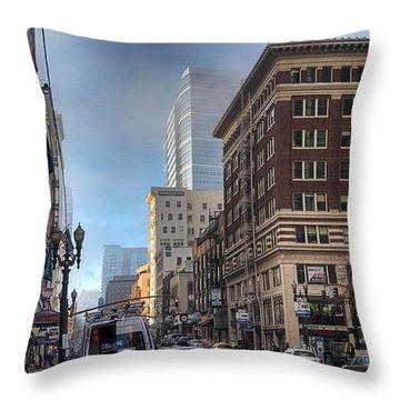 Portland Hustle Throw Pillow by Spencer McDonald