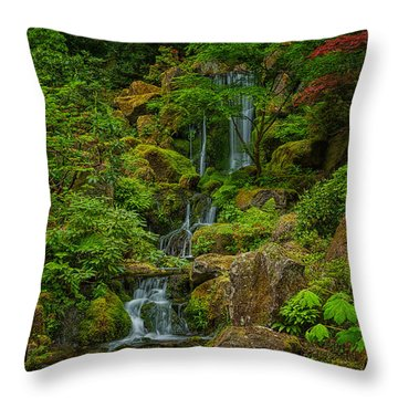Portland Japanese Gardens Throw Pillow