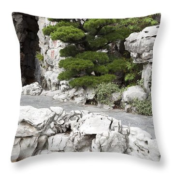 Portland Lan Su Gardens Throw Pillow by Peter French