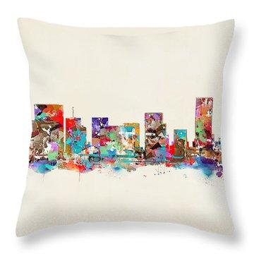 Portland Skyline Oregon Throw Pillow