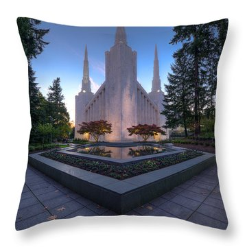Throw Pillow featuring the photograph Portland Temple by Dustin  LeFevre