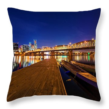 Throw Pillow featuring the photograph Portland Under The Stars by Dustin  LeFevre