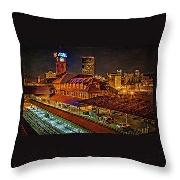 Portland Union Train Station Two Throw Pillow