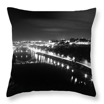 Porto @ Night Throw Pillow