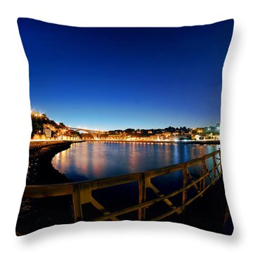Porto By Night. Throw Pillow