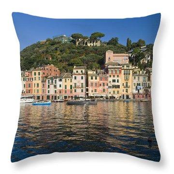 Throw Pillow featuring the photograph Portofino by Antonio Scarpi