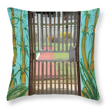 Porton Cerrado Throw Pillow