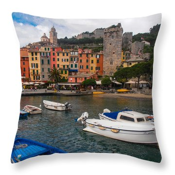 Portovenere Throw Pillow by Dany Lison