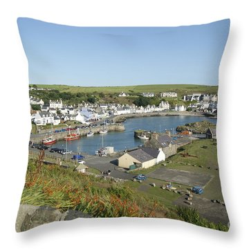 Portpatrick Harbour Throw Pillow