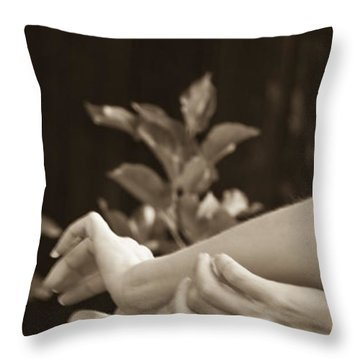 Portrait 8 Throw Pillow