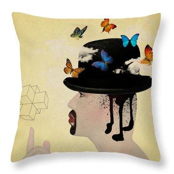 Portrait Hat Throw Pillow by Mark Ashkenazi