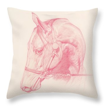Portrait Head Throw Pillow