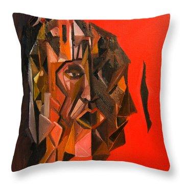 Portrait Mask Throw Pillow