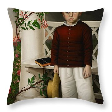 Portrait Of A Boy Throw Pillow by James B Read