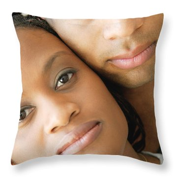 Portrait Of A Couple Throw Pillow by Darren Greenwood