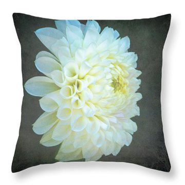 Portrait Of A Dahlia Throw Pillow
