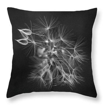 Portrait Of A Dandelion Throw Pillow