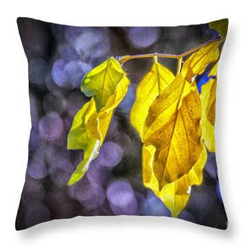Portrait Of A Dying Leaf Throw Pillow