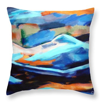 Portrait Of A Figure Throw Pillow