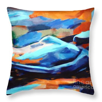 Portrait Of A Figure Throw Pillow by Helena Wierzbicki