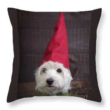 Portrait Of A Garden Gnome Throw Pillow