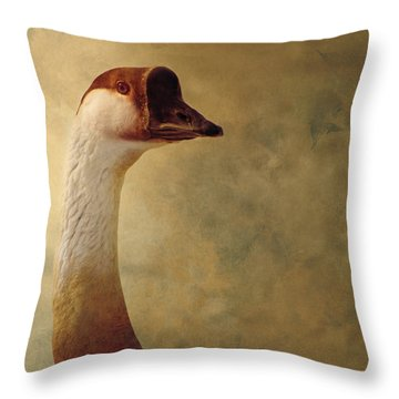 Portrait Of A Goose Throw Pillow