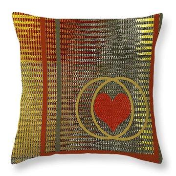 Portrait Of A Heart Throw Pillow by Ben and Raisa Gertsberg