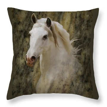 Portrait Of A Horse God Throw Pillow