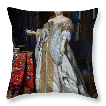Portrait Of A Lady Throw Pillow by Gabriel Metsu