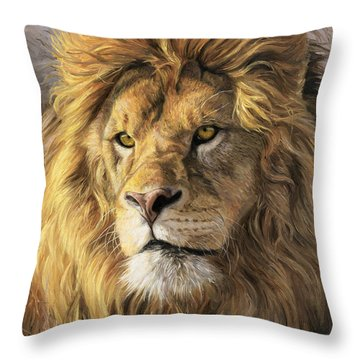 Portrait Of A Lion Throw Pillow