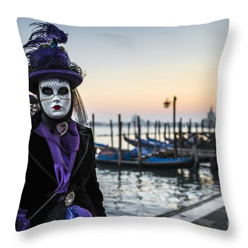 Portrait Of A Mask II Throw Pillow