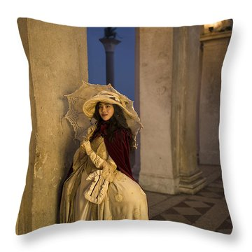 Portrait Of A Mask IIi Throw Pillow