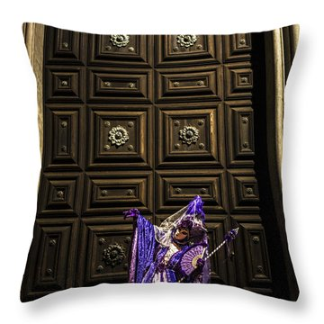Portrait Of A Mask Iv Throw Pillow