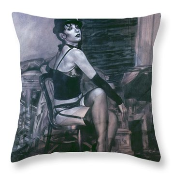Portrait Of A Night Infatuation Throw Pillow