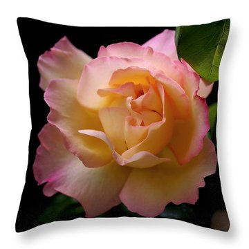 Portrait Of A Rose Throw Pillow by Rona Black