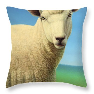Portrait Of A Sheep Throw Pillow