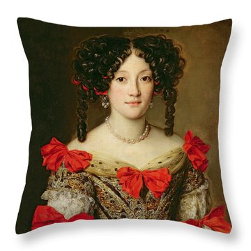 Portrait Of A Woman Throw Pillow by Jacob Ferdinand Voet