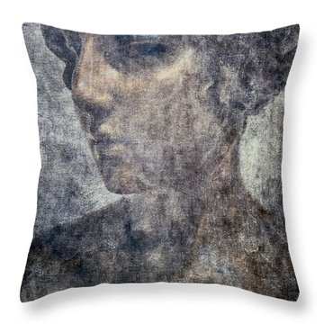 Portrait Of A Woman Throw Pillow by Kathleen K Parker