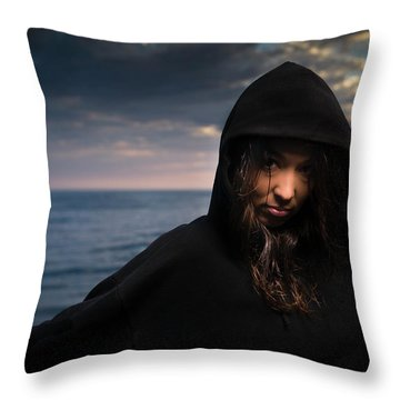 Portrait Of A Young Woman Endurance Throw Pillow