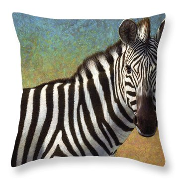 Portrait Of A Zebra Throw Pillow