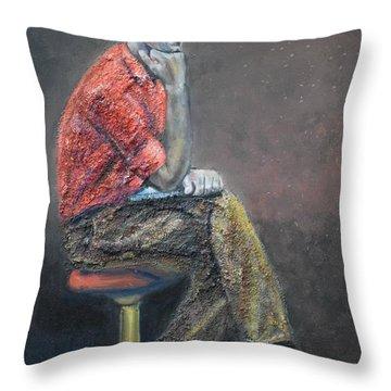 Portrait Of Ali Akrei - The Painter Throw Pillow