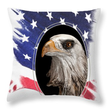 Portrait Of America Throw Pillow